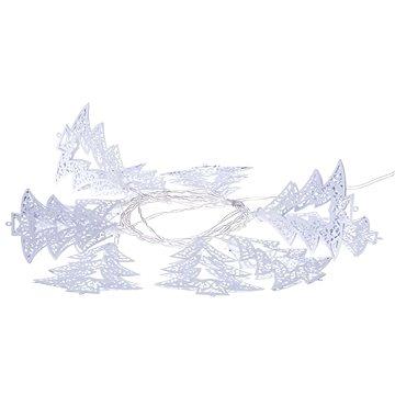EMOS LED girlanda - bílé stromečky, 3xAA, teplá bílá, časovač (1534197300)
