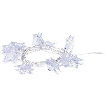 EMOS LED girlanda - bílé hvězdy, 3xAA, teplá bílá, časovač (1534197400)