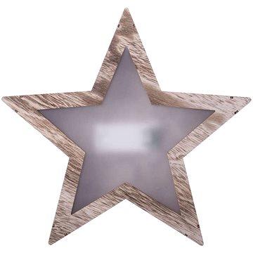 EMOS LED dekorace - hvězda 3D dřevěná, 2xAA, teplá bílá (1534196700)