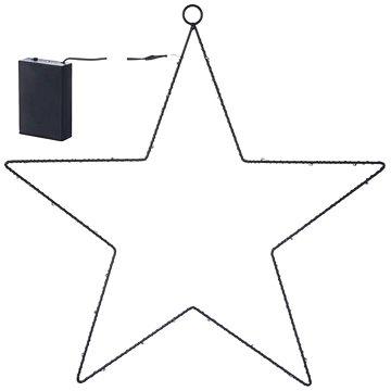 EMOS LED dekorace - hvězda kovová, 3xAA, teplá bílá, časovač (1534196200)