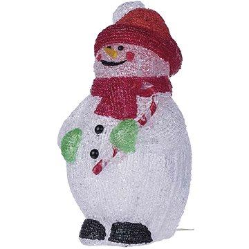 EMOS LED dekorace - sněhulák, IP44, studená bílá, časovač (1534190200)