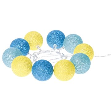 EMOS LED girlanda – koule bavlněné, léto, 2×AA, teplá bílá, čas. (1534196300)
