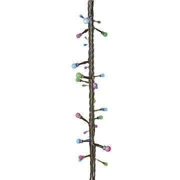EMOS 40 LED vánoční světelný řetěz – kuličky, 4m, zel./mod./růž., čas. (1534201700)