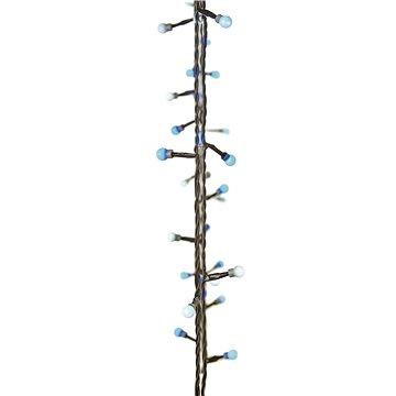 EMOS 40 LED vánoční světelný řetěz – kuličky, 4m, modrá/bílá, časovač (1534201800)