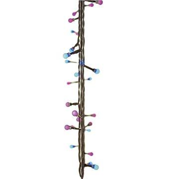 EMOS 40 LED vánoční světelný řetěz – kuličky, 4m, modrá/růžová, časovač (1534201900)