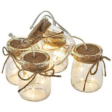 EMOS LED vánoční girlanda – 5× skleničky, 3×AA, teplá bílá, čas. (1534209800)