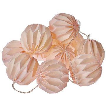 EMOS LED vánoční girlanda – 10× růžové pap. koule, 2×AA, teplá b., čas. (1534212700)