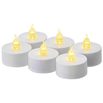 EMOS LED vánoční dekorace – svíčka, čajová, bílá, 6× CR2032 (1534214900)