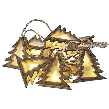 LED vánoční girlanda – stromky 3D, 2x AA, teplá bílá, časovač (1534206600)