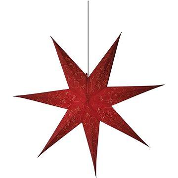 LED vánoční hvězda papírová červená, 75cm (1534224900)