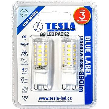 TESLA LED 3W G9 2ks 4000K (G9000340-5PACK)