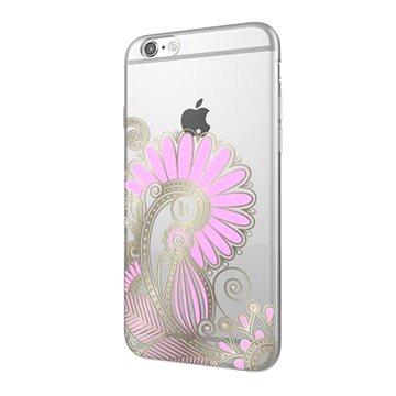 Epico Hoco Flower pro iPhone 6/6S transparentní bílá/růžová (4410101000015)