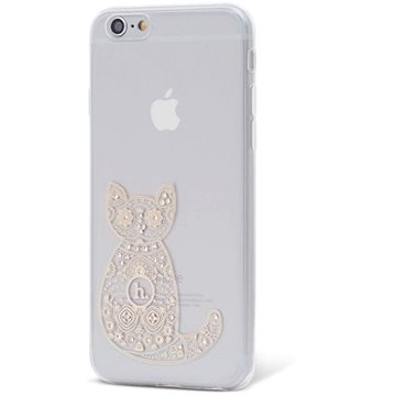 Epico Hoco Cat pro iPhone 6/6S transparentní bílá (4410101000018)