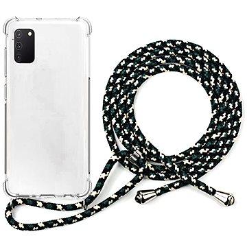 Epico Nake String Case Samsung Galaxy A41 - bílá transparentní / černo-bílá (48210101000002)