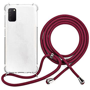 Epico Nake String Case Samsung Galaxy A41 - bílá transparentní / červená (48210101400001)