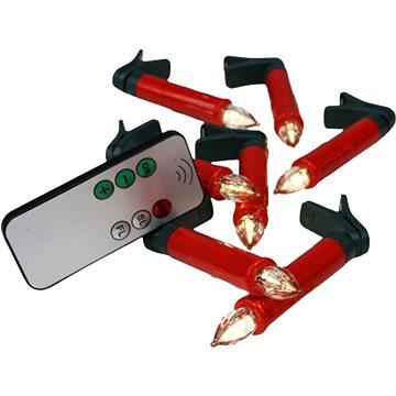 EUROLAMP Bezdrátové svíčky červené 10ks