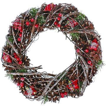 Vánoční dekorativní věnec typ 600-43578