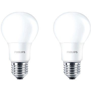 Philips LED 7.5-60W, E27, 4000K, matná, set 2ks (929001234761)