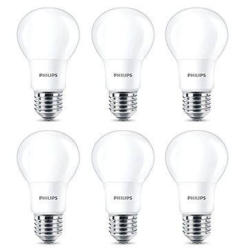 Philips LED 8-60W, E27, 2700K, matná, set 6ks (929001234391)