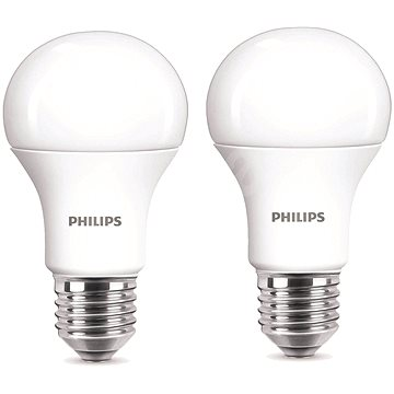 Philips LED 9-60W E27, 2700K, Mléčná, set 2ks (929001234361)