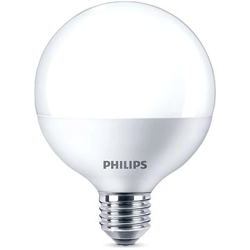 Philips LED Globe 9-60W, E27, 2700K, Mléčná (929001229201)