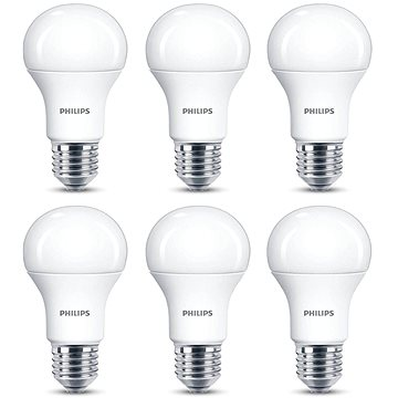 Philips LED 13-100W, E27, 2700K, matná, set 6ks (929001234591)