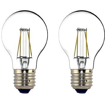 Philips LED Classic Filament Retro 4-40W, E27, 2700K, čirá, set 2ks (929001237171)