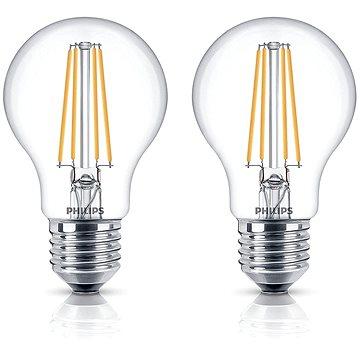 Philips LED Classic Filament Retro 6-60W, E27, 2700K, čirá, set 2ks (929001237271)
