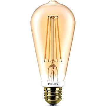 Philips LED Classic Filament Globe Retro 7-50W, E27, GOLD 2000K, čirá, stmívatelná (929001228901)