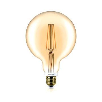 Philips LED Classic Filament Globe Retro 7-50W, E27, GOLD 2000K, čirá, stmívatelná (929001229101)