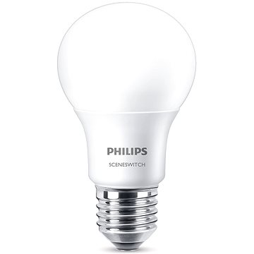 Philips LED SceneSwitch 60W, E27, 2700-2500-2200K, matná (929001236517)