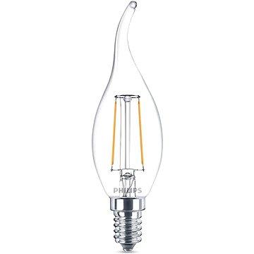 Philips LED Classic Svíčka 2-25W, E14, 2700K, čirá (929001238401)