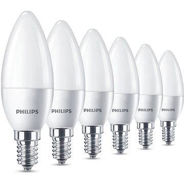Philips LED Svíčka 5.5-40W, E14, 2700K, matná, set 6ks (929001157791)
