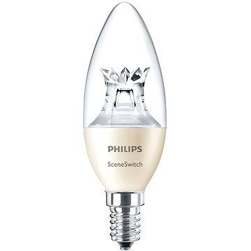 Philips LED SceneSwitch Svíčka 40W, E14, 2700-2500-2200K, Čirá (929001260801)