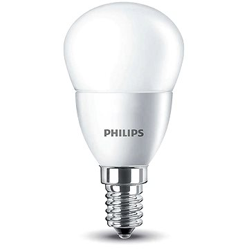 Philips LED Kapka 5,5-40W, E14, 2700K, Mléčná (929001157817)