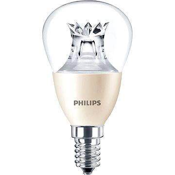 Philips LED kapka 8-60W, E14, 2700K, čirá, WarmGlow stmívatelná (929001211901)