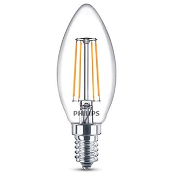 Philips LED Classic Filament Retro svíčka 4-40W, E14, 2700K, čirá (929001258017)