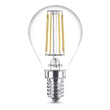 Philips LED Classic Filament Retro kapka 4-40W, E14, 2700K, čirá (929001258101)