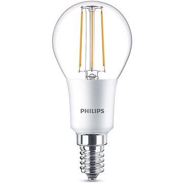 Philips LED Classic Filament Retro kapka 4.5-40W, E14, 2700K, čirá, stmívatelná (929001227401)