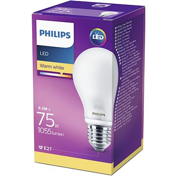 Philips LED Classic 8.5-75W, E27, Matná, 2700K (929001286331)