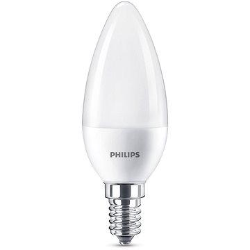 Philips LED svíčka 7-60W, E14, Matná, 2700K (929001325101)