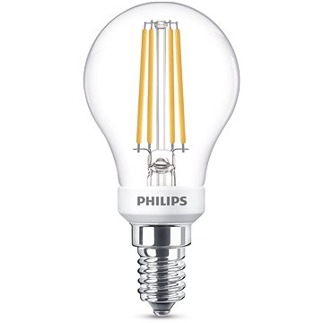 Philips LED Classic kapka 5-40W, E14, čirá, 2700K (929001332501)