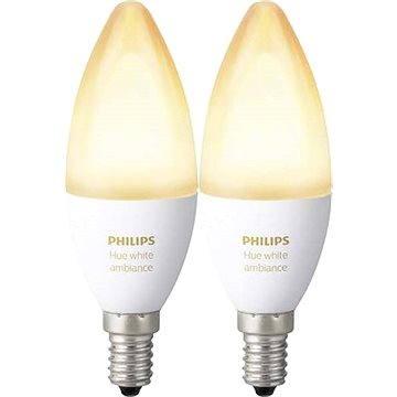 Philips Hue White Ambiance 6W E14 set 2ks (929001301402)