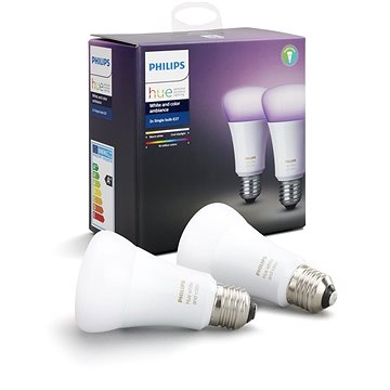 Philips Hue White and Color ambiance 10W E27 set 2ks (929001257363)