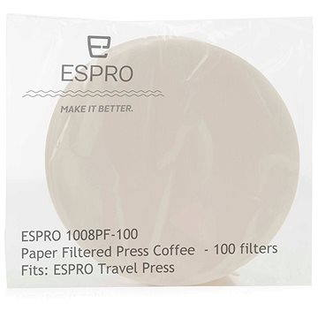 ESPRO Papírové kávové filtry pro Travel Press (1008PF-100)