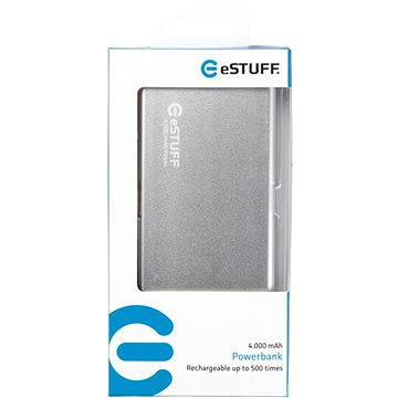 eStuff Power Bank 4000mAh Silver (ES80194)