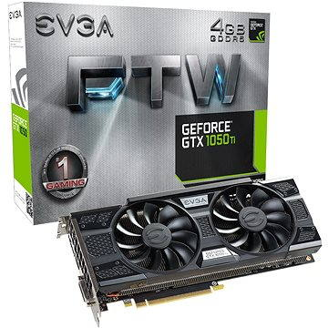 EVGA GeForce GTX 1050 Ti FTW GAMING ACX 3.0 (04G-P4-6258-KR) + ZDARMA Hra pro PC The Rocket League