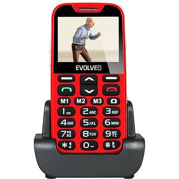 EVOLVEO EasyPhone XD červeno-stříbrný (EP-600-XDR) + ZDARMA Digitální předplatné Týden - roční Digitální předplatné Interview - SK - Roční od ALZY