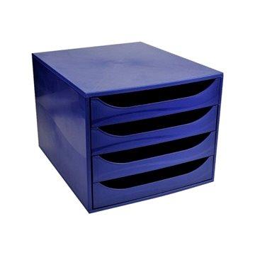 EXACOMPTA 4-zásuvkový, modrý (228104D)