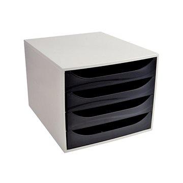 EXACOMPTA 4-zásuvkový, šedo/černý (2286014D)